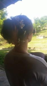 Daisies in hair