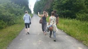 Walking back from breakfast 3